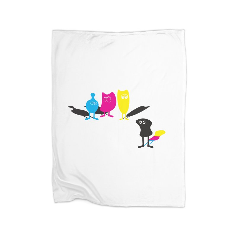 CMY...what? Home Blanket by jefo's Artist Shop