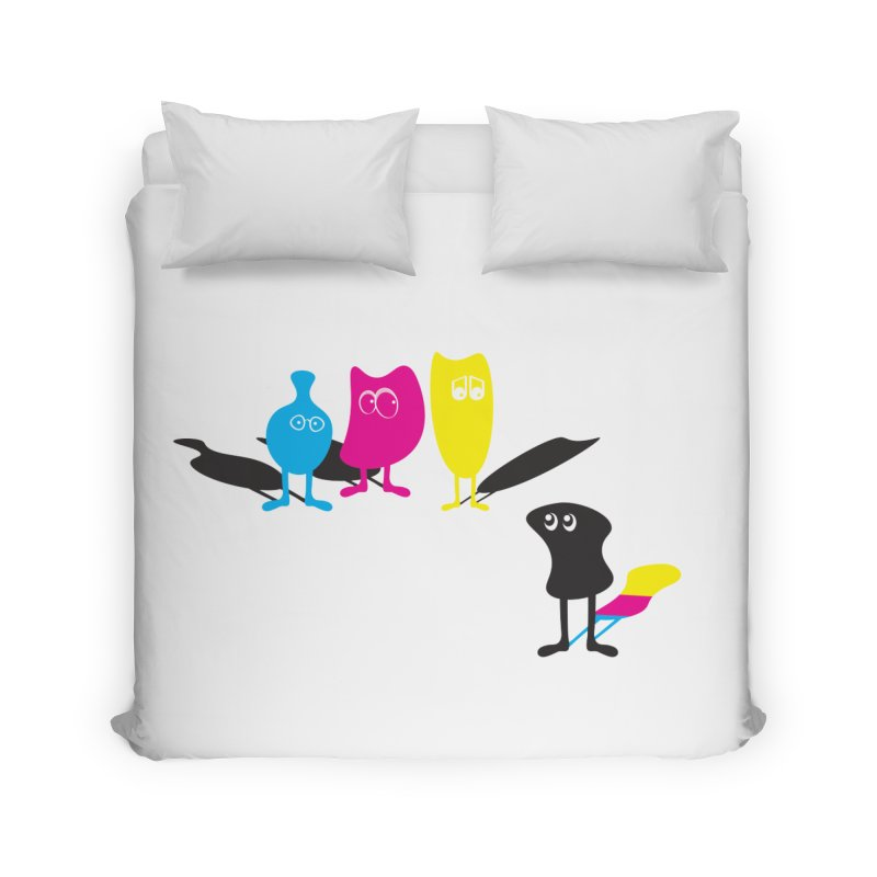 CMY...what? Home Duvet by jefo's Artist Shop