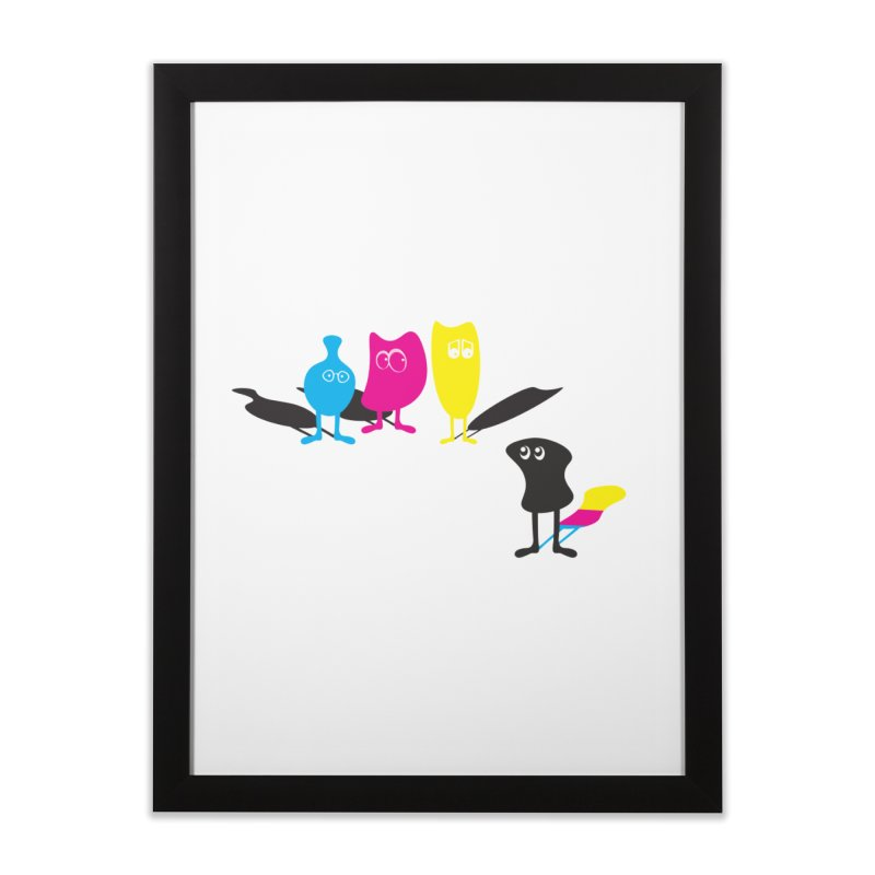 CMY...what? Home Framed Fine Art Print by jefo's Artist Shop