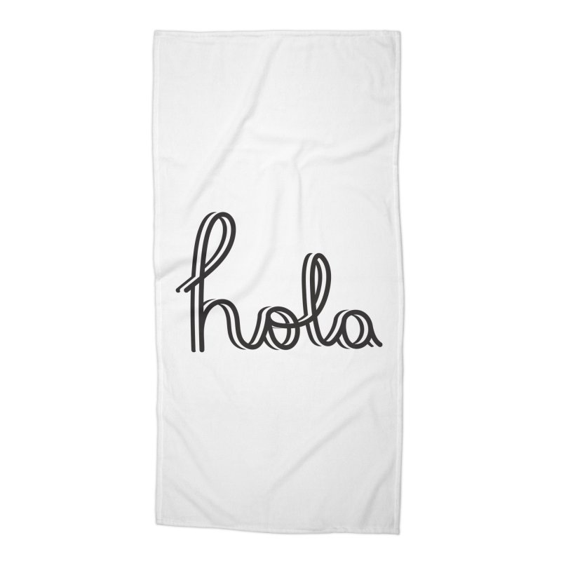 Hola Accessories Beach Towel by jefo's Artist Shop