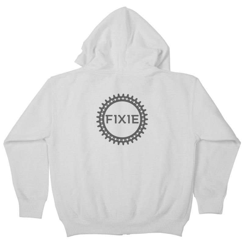 Fixie Kids Zip-Up Hoody by jefo's Artist Shop