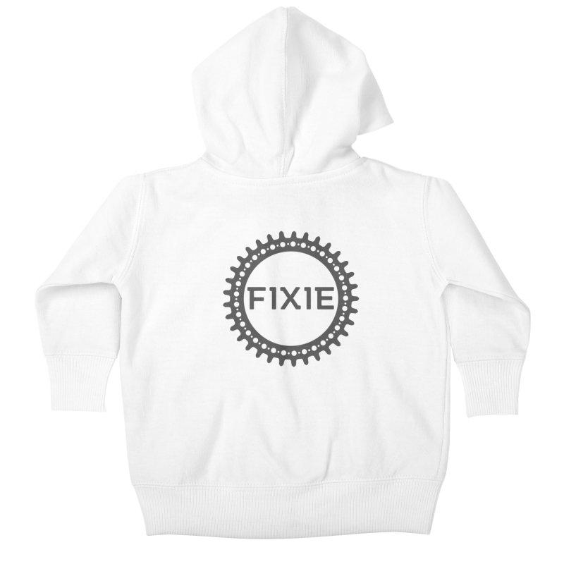 Fixie Kids Baby Zip-Up Hoody by jefo's Artist Shop