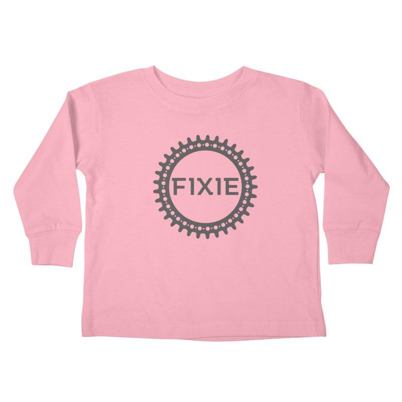 Fixie Kids Toddler Longsleeve T-Shirt by jefo's Artist Shop