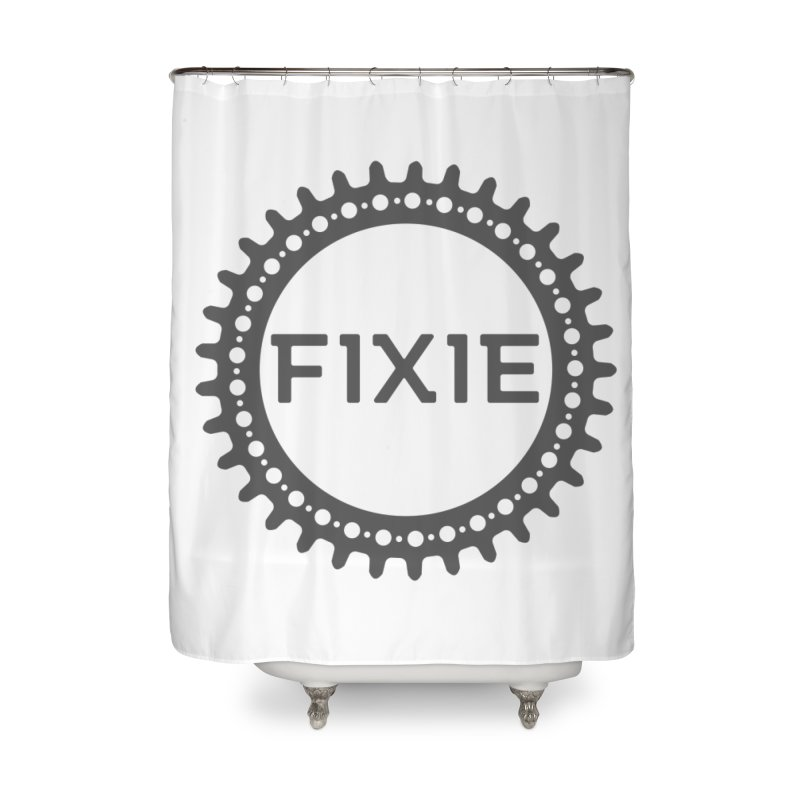 Fixie Home Shower Curtain by jefo's Artist Shop