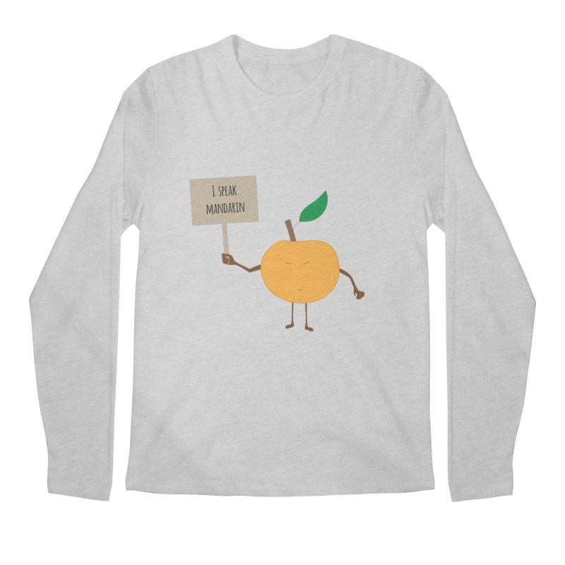 I Speak Mandarin Men's Longsleeve T-Shirt by jefo's Artist Shop