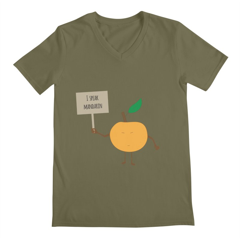 I Speak Mandarin Men's V-Neck by jefo's Artist Shop