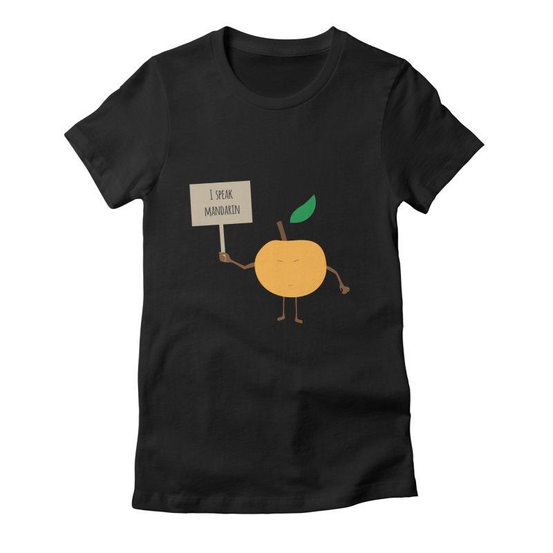 I Speak Mandarin Women's Fitted T-Shirt by jefo's Artist Shop
