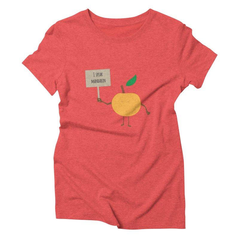I Speak Mandarin Women's Triblend T-shirt by jefo's Artist Shop