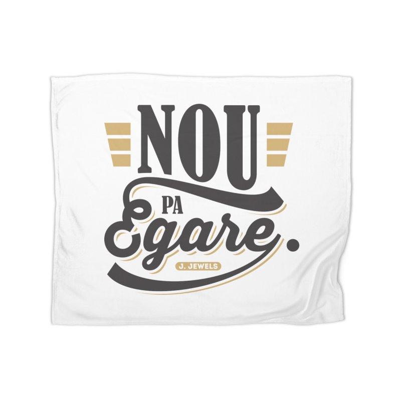 Nou Pa Egare BLACK WITH COLORS Home Fleece Blanket Blanket by jeinetwork's Artist Shop