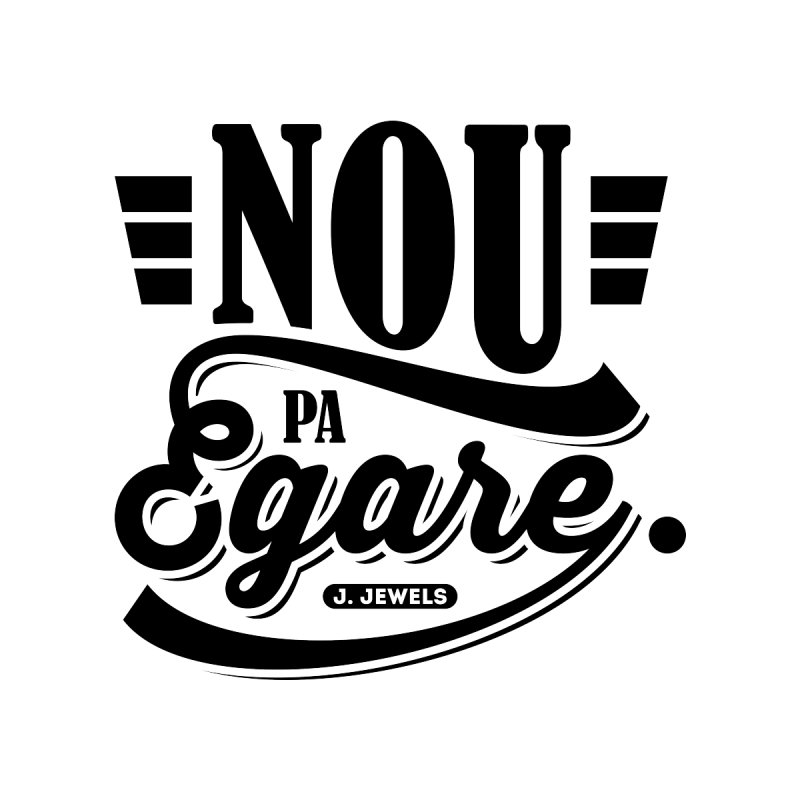 Nou Pa Egare ALL BLACK Accessories Water Bottle by jeinetwork's Artist Shop