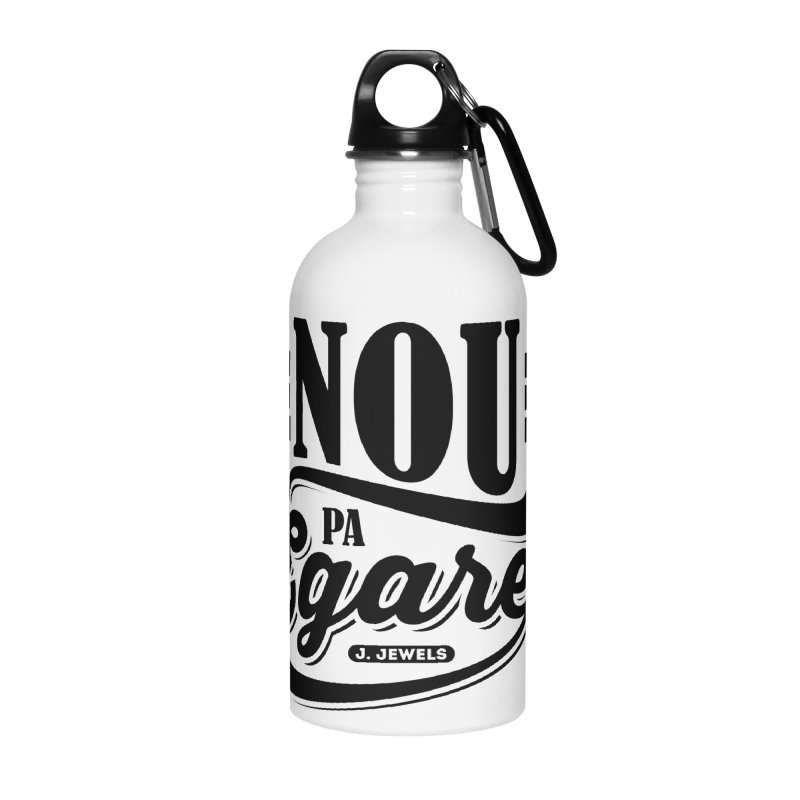 Nou Pa Egare ALL BLACK in Water Bottle by jeinetwork's Artist Shop
