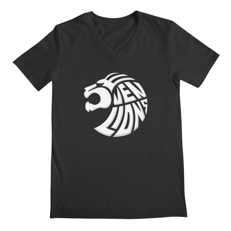 Seven Lions Men's Regular V-Neck by jellodesigns's Store