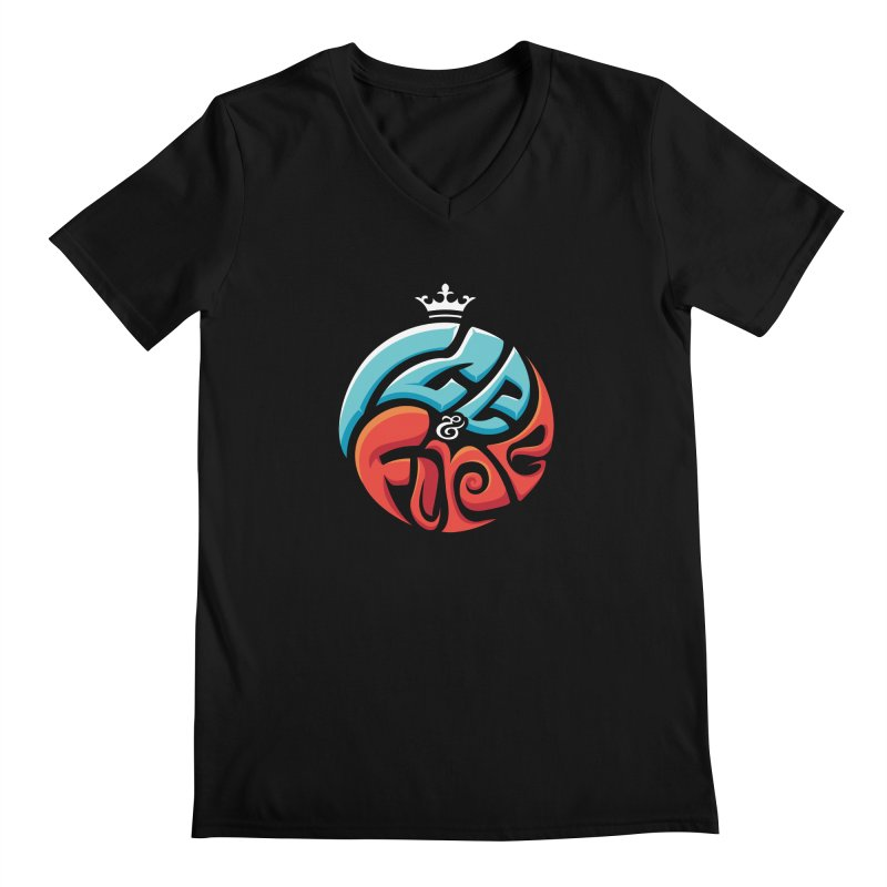 Fire & Ice Men's V-Neck by jellodesigns's Store