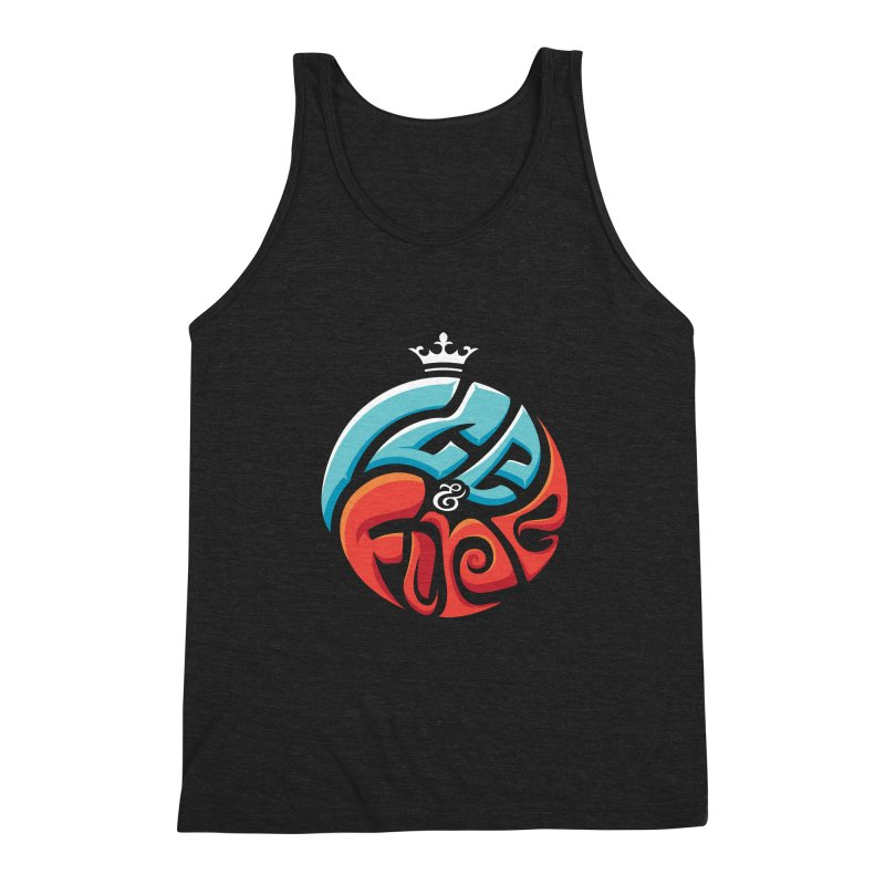 Fire & Ice Men's Triblend Tank by jellodesigns's Store