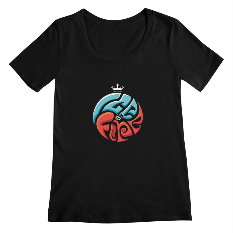 Fire & Ice Women's Scoopneck by jellodesigns's Store