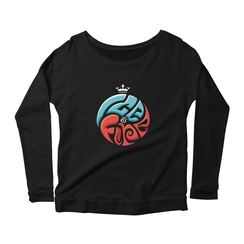 Fire & Ice Women's Scoop Neck Longsleeve T-Shirt by jellodesigns's Store