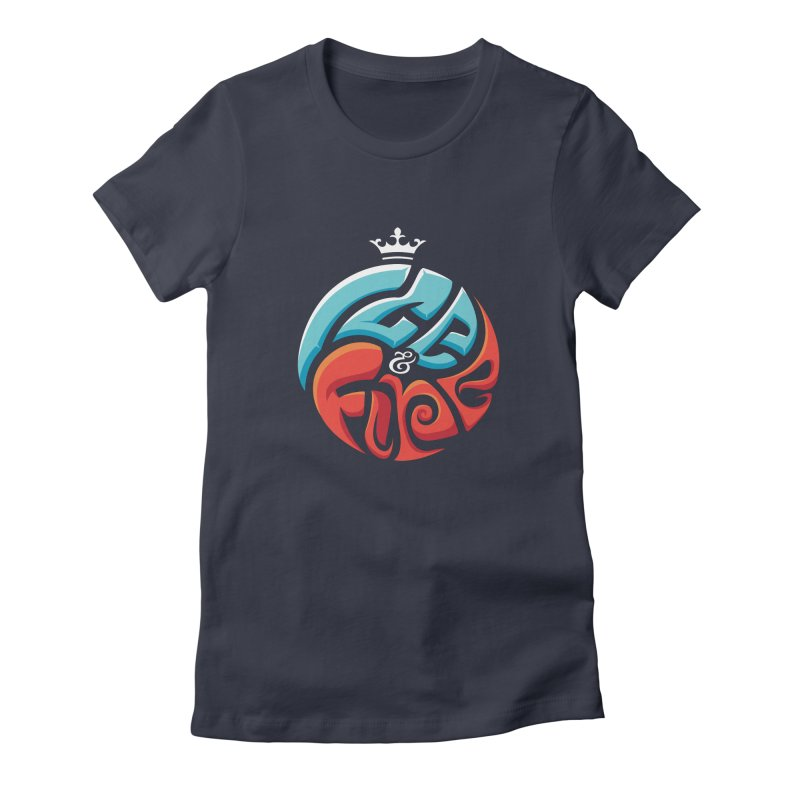 Fire & Ice Women's Fitted T-Shirt by jellodesigns's Store
