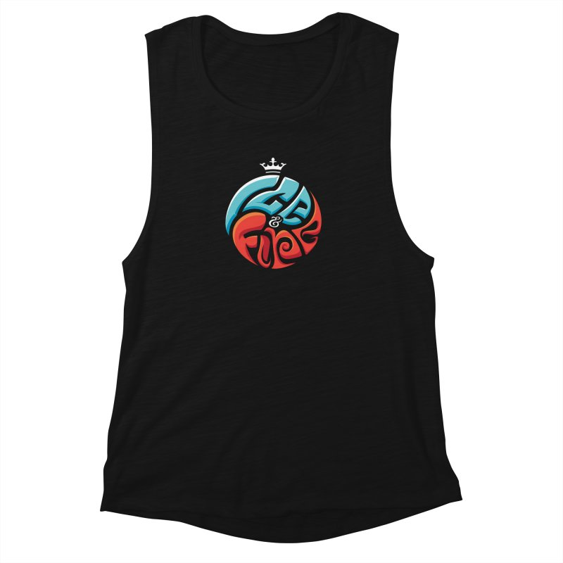 Fire & Ice Women's Muscle Tank by jellodesigns's Store