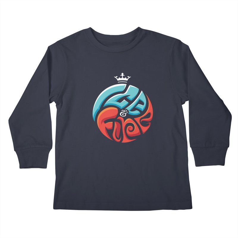 Fire & Ice Kids Longsleeve T-Shirt by jellodesigns's Store