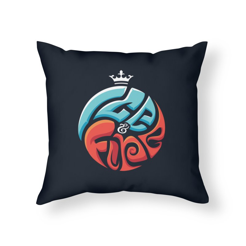 Fire & Ice Home Throw Pillow by jellodesigns's Store