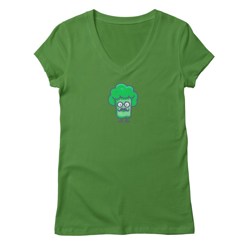 Professor Vegetable Women's Regular V-Neck by jellodesigns's Store