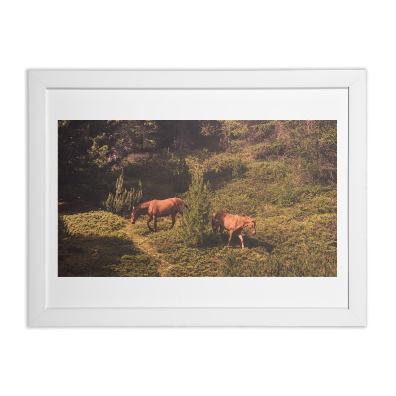 Mountain Horses Home Framed Fine Art Print by Jelly Designs