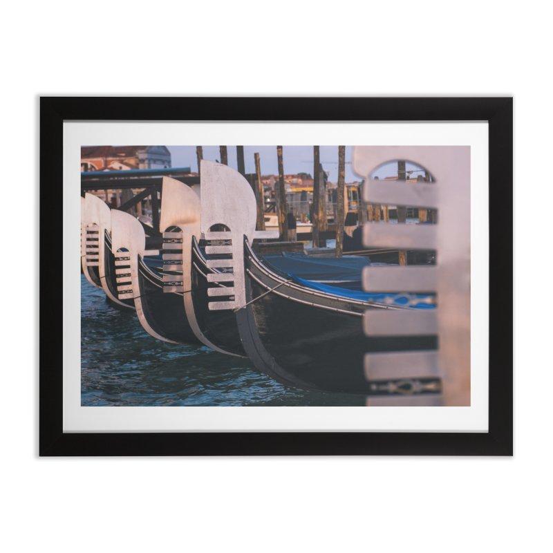 Docked Home Framed Fine Art Print by Jelly Designs