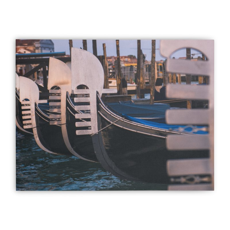 Docked Home Stretched Canvas by Jelly Designs
