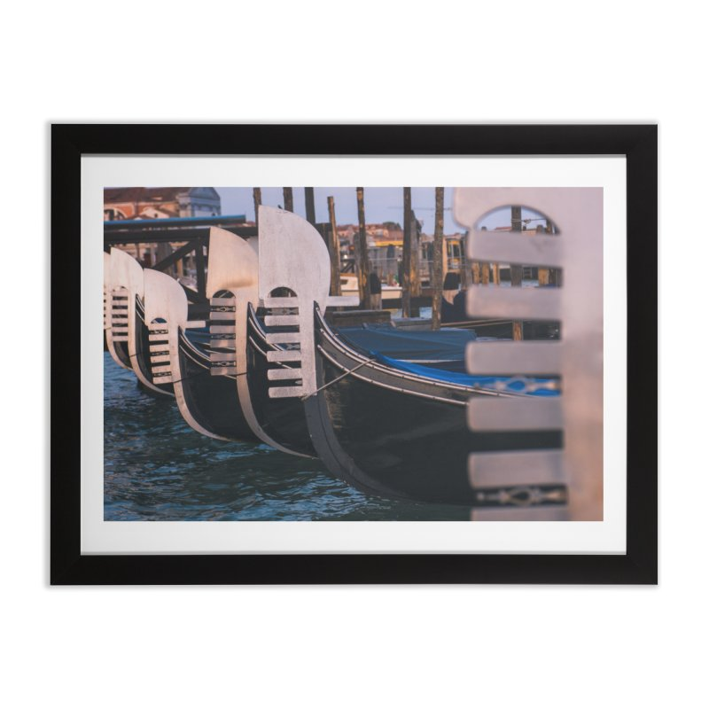 Docked Home Framed Fine Art Print by Jelly Designs