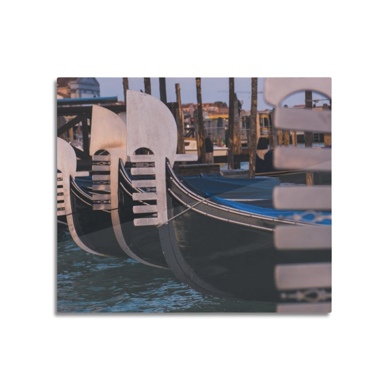 Docked Home Mounted Aluminum Print by Jelly Designs
