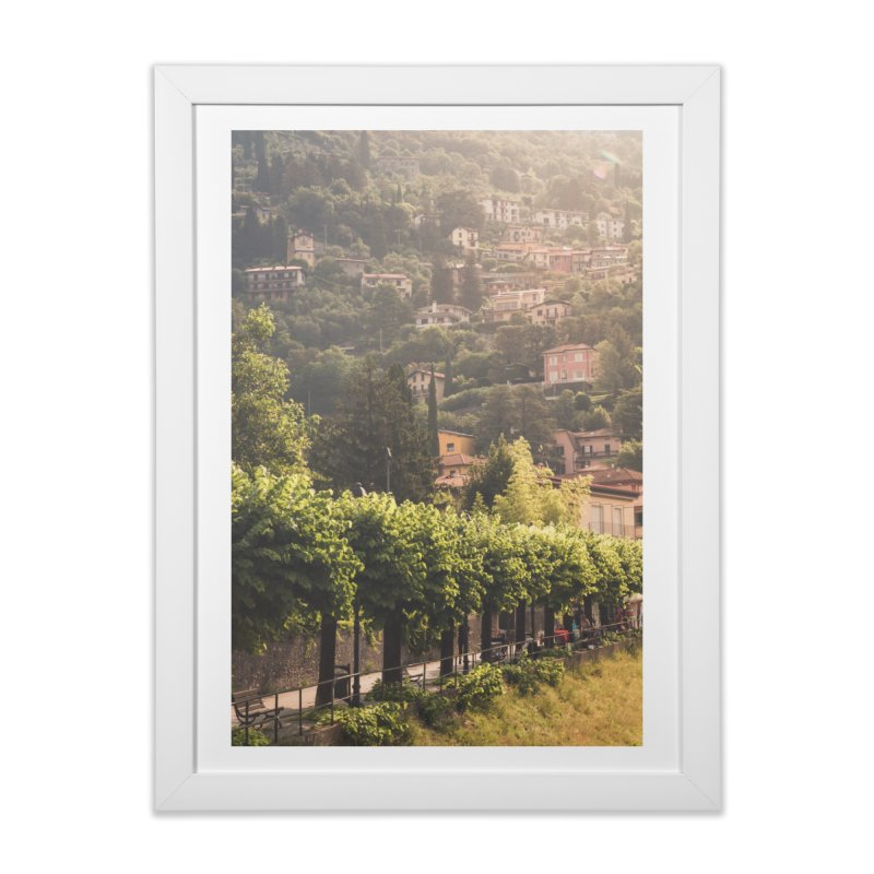 Sunny Varenna pt. 2 Home Framed Fine Art Print by Jelly Designs
