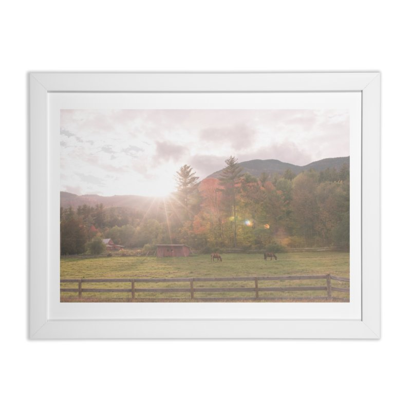 A Farm Somewhere In Nowhere Home Framed Fine Art Print by Jelly Designs