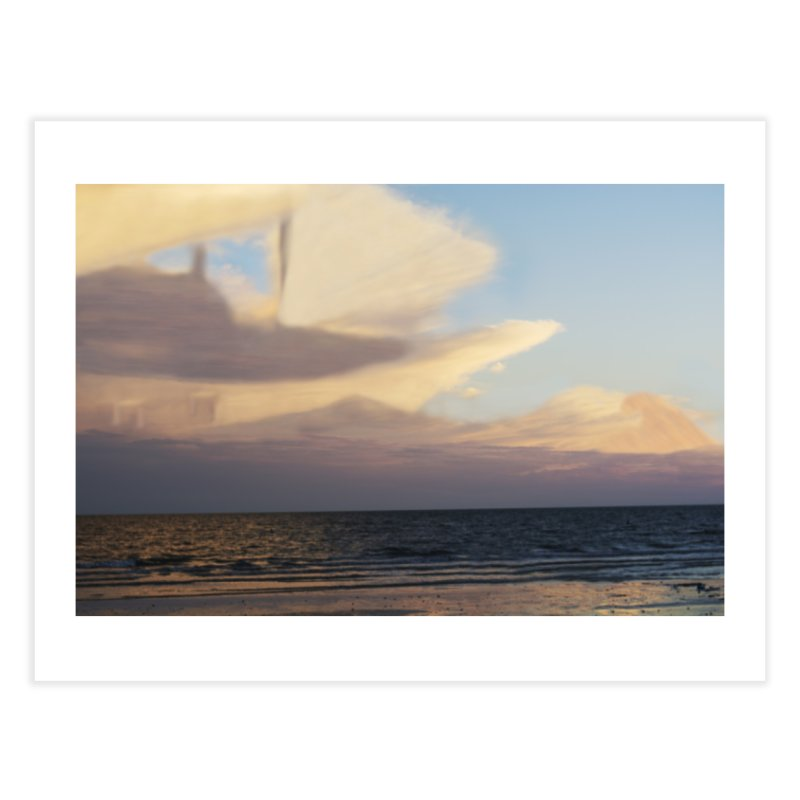 Clouds Part 3 : Sailing on Golden Hour Home Fine Art Print by Jelly Designs