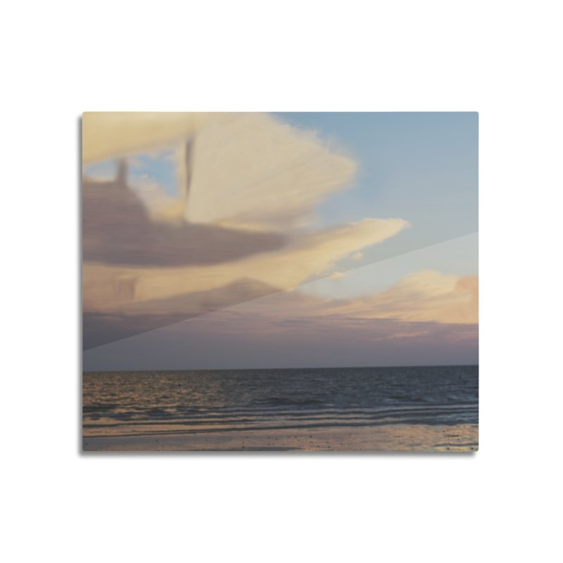Clouds Part 3 : Sailing on Golden Hour Home Mounted Aluminum Print by Jelly Designs