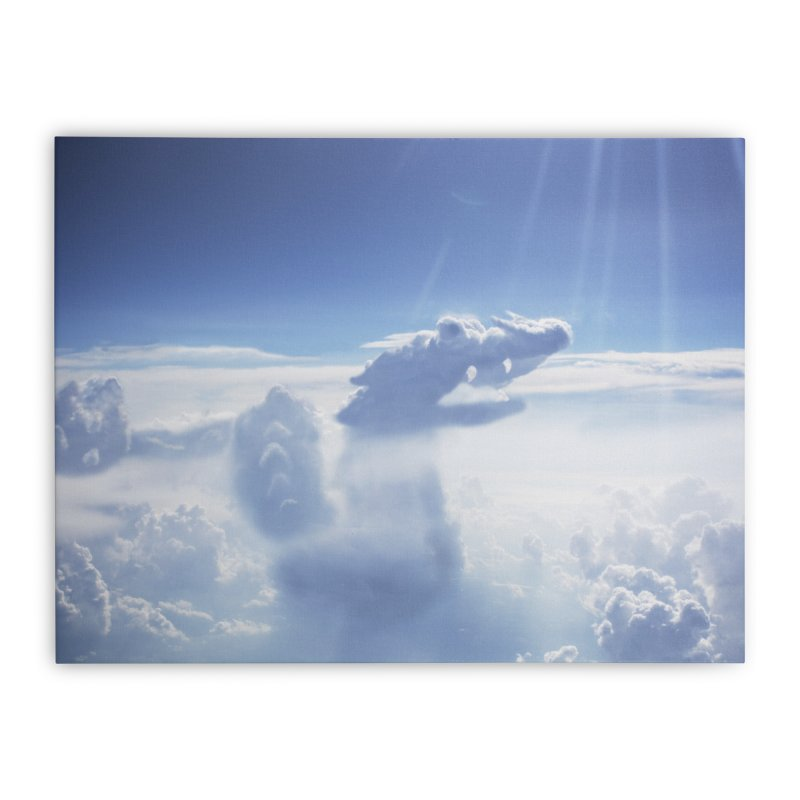 Clouds Part 4 : Dragon Home Stretched Canvas by Jelly Designs