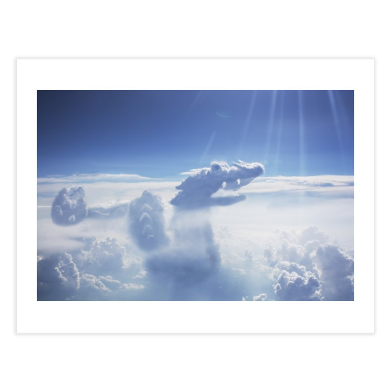 Clouds Part 4 : Dragon Home Fine Art Print by Jelly Designs