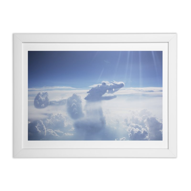 Clouds Part 4 : Dragon Home Framed Fine Art Print by Jelly Designs