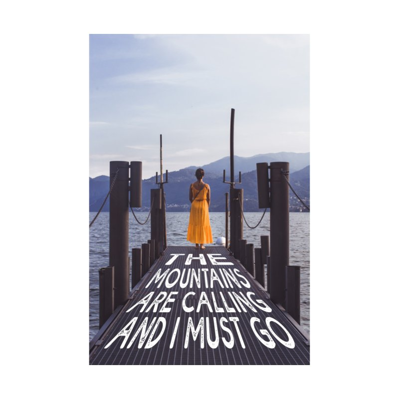 I Must Go To The Varenna Mountains Home Mounted Aluminum Print by Jelly Designs