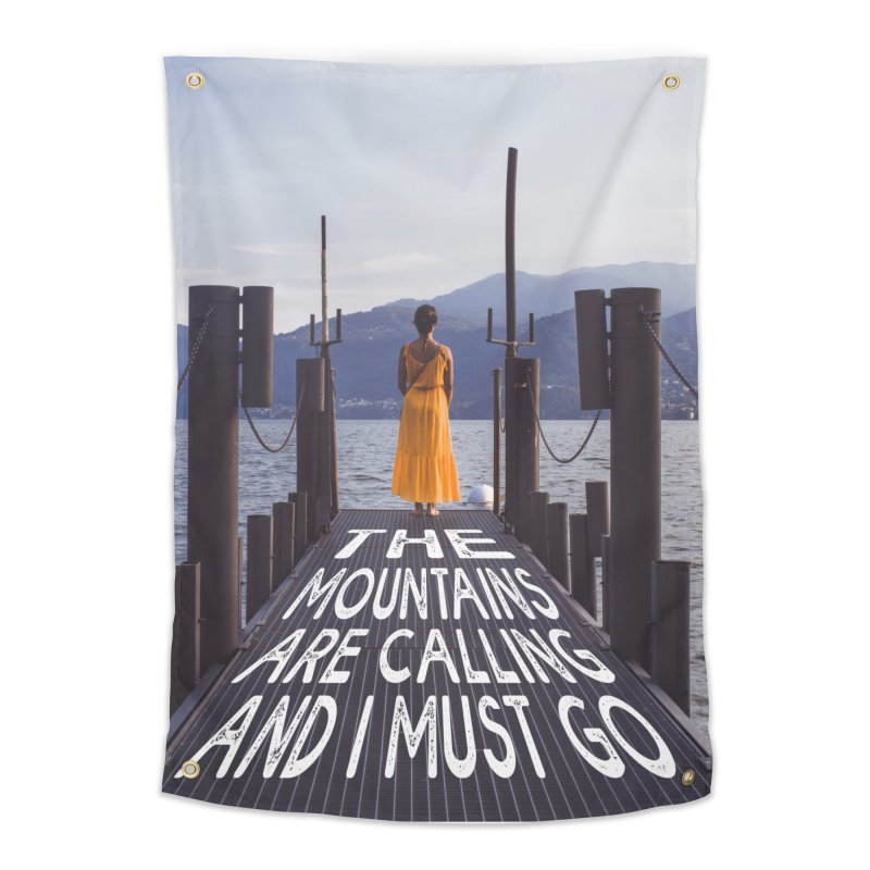 I Must Go To The Varenna Mountains Home Tapestry by Jelly Designs