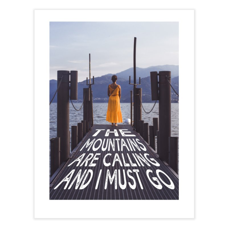 I Must Go To The Varenna Mountains Home Fine Art Print by Jelly Designs