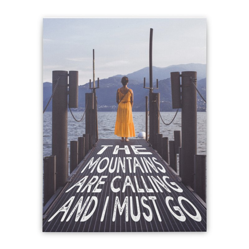 I Must Go To The Varenna Mountains Home Stretched Canvas by Jelly Designs