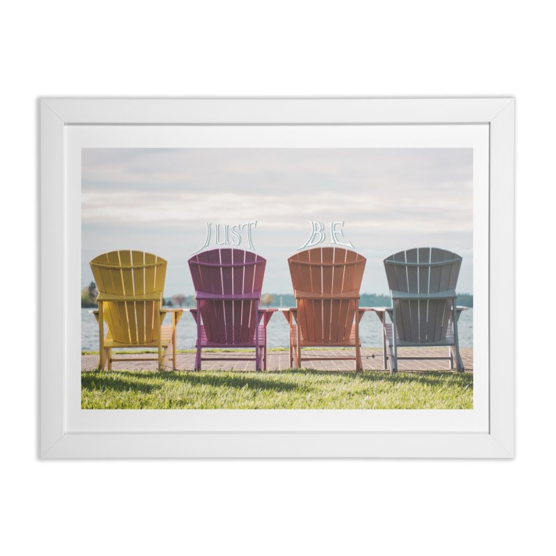 Just Be Home Framed Fine Art Print by Jelly Designs