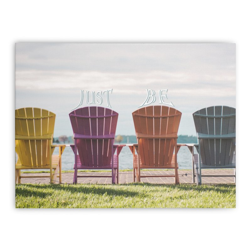 Just Be Home Stretched Canvas by Jelly Designs
