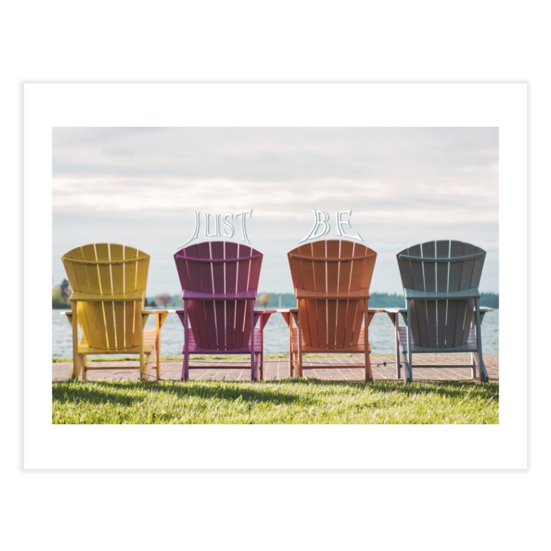 Just Be Home Fine Art Print by Jelly Designs