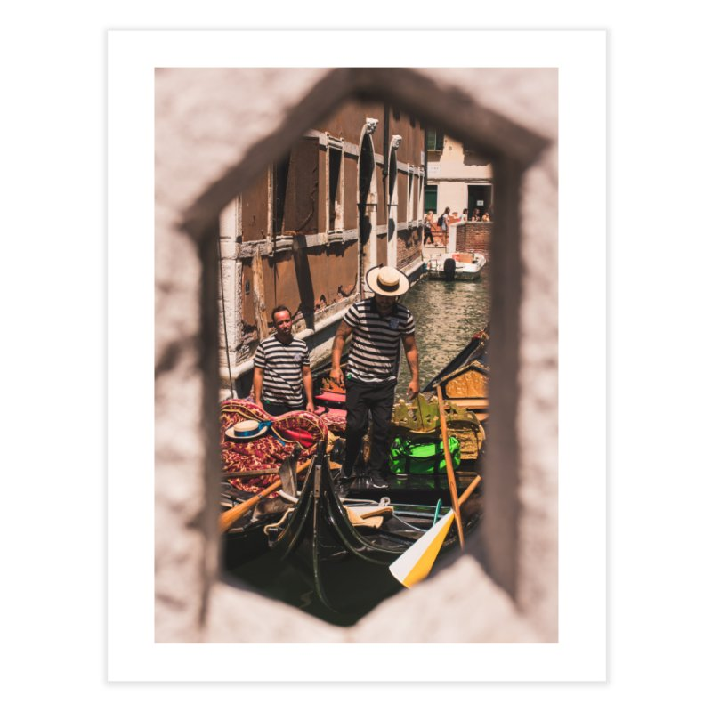 A Window Into Venice Home Fine Art Print by Jelly Designs