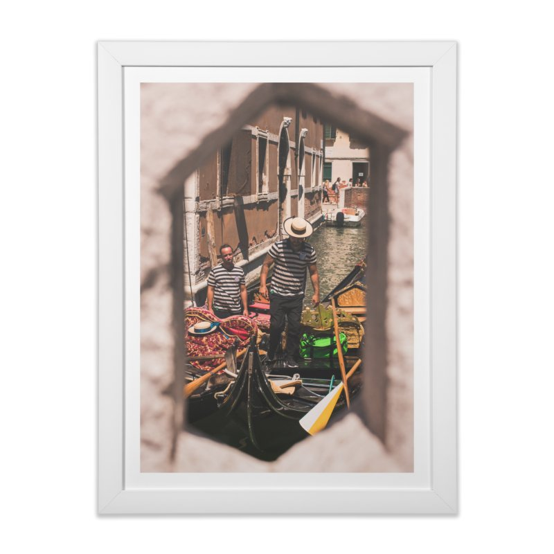 A Window Into Venice Home Framed Fine Art Print by Jelly Designs