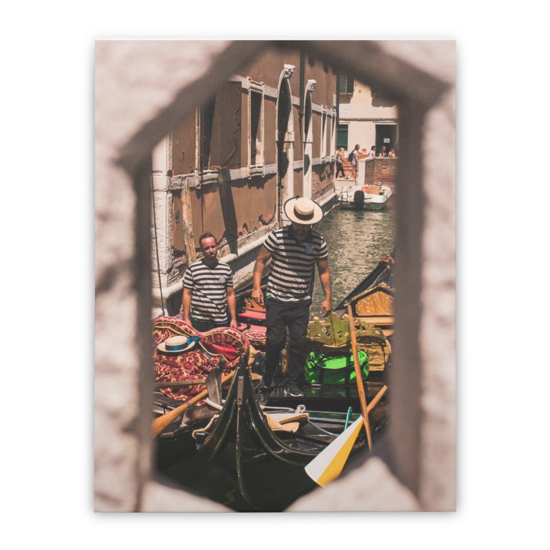 A Window Into Venice Home Stretched Canvas by Jelly Designs