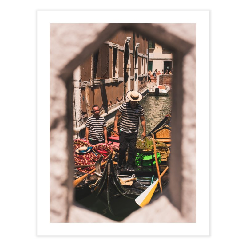 A Window Into Venice Home Fine Art Print by Jelly Designs