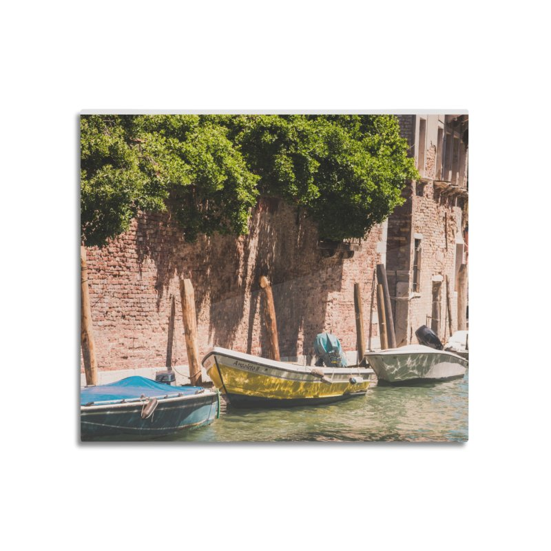 In A Row Home Mounted Aluminum Print by Jelly Designs