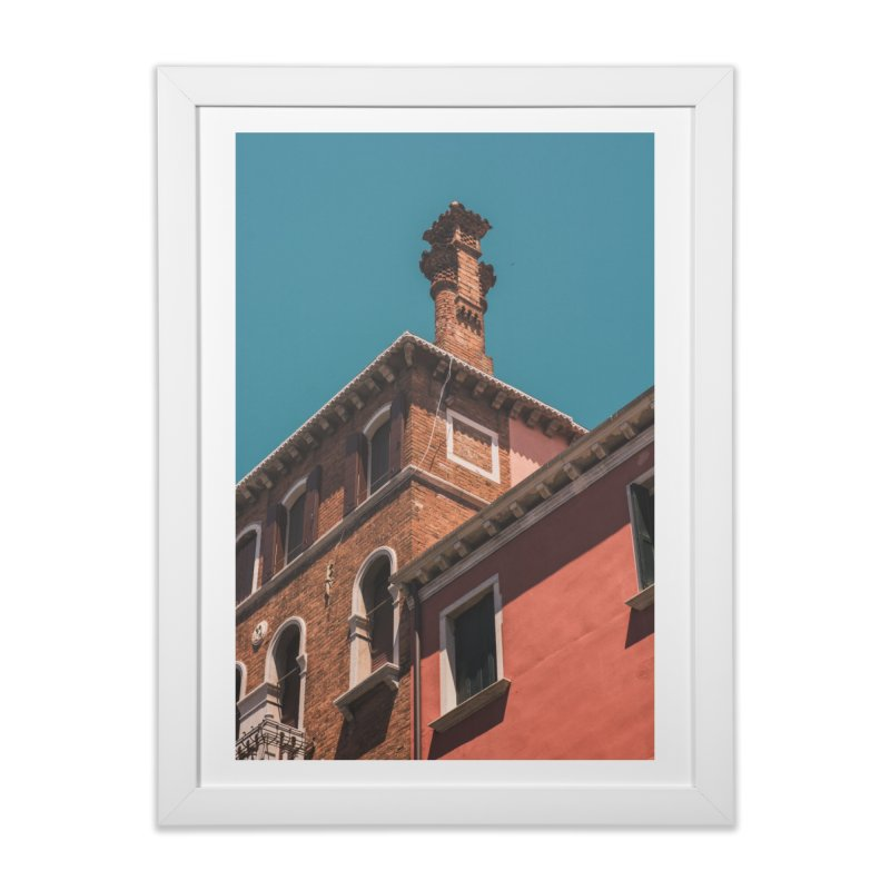 Blue & Red Home Framed Fine Art Print by Jelly Designs